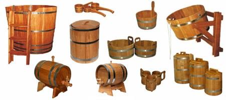 Изделия для бани из древесины