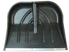 Лопата пластик без черенка 385х380 с оцинкованной накладкой