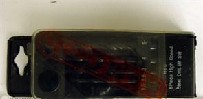 Набор сверел по металлу  5 шт(4 - 10 мм)